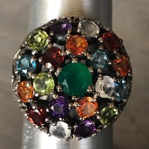 Nicky Butler Multi Precious Stone Dome Ring